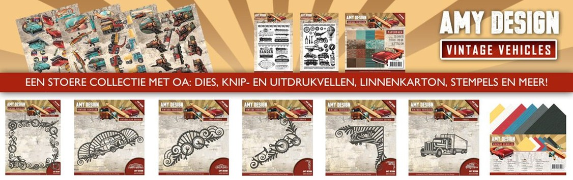 Dit product maat deel uit van de Amy Design Vintage Vehicles Collection