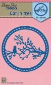 Shape Dies Blue - Cat in Tree