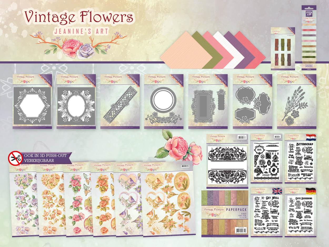 Dit product maat deel uit van de Jeanine's Art - Vintage Flowers collectie